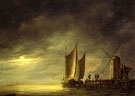 Fishing Boats by Moonlight c1650 - Aelbert Cuyp