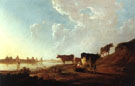 River Scene with Milking Woman - Aelbert Cuyp
