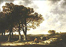 Goatherd in Landscape a Distant View of Amsterdam c1650 - Aelbert Cuyp