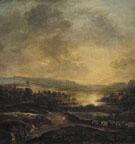 Hilly Landscape at Sunset 1660 - Aert va der Neer