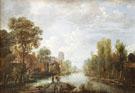 Landscape with Waterway - Aert va der Neer