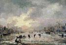 Winter Landscape with Houses - Aert va der Neer