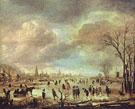 River View in the Winter c1655 - Aert va der Neer