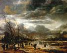 Winter Landscape in a Snowstorm 1660 - Aert va der Neer