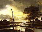 River Views Evening - Aert va der Neer