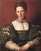 Portrait of A Lady In Green - Agnolo Bronzino