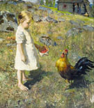 The Girl and the Rooster 1886 - Akseli Gallen Kallela