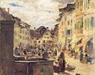 Market In Murten - Albert Anker