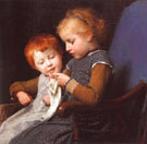 The Little Knitters - Albert Anker