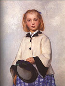 The Artists Daughter Louise - Albert Anker