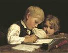 A Boy Writing 1875 - Albert Anker