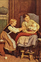The First Smile - Albert Anker