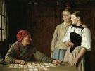 Die Kartenlegerin Fortune Teller 1880 - Albert Anker
