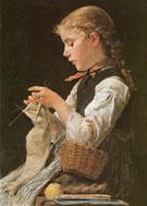 Madchen 1884 - Albert Anker
