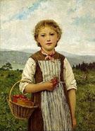 La Mariette aux Fraises 1884 - Albert Anker