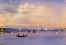 On The Lake - Albert Bierstadt