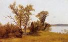 Sailboats On The Hudson At Irvington - Albert Bierstadt