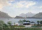 Lakeshore In Northern Italy c1855 - Albert Bierstadt