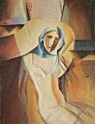 Weibliche Halbfigur 1920 - Albert Muller