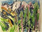 Davoser Berglandschaft 1925 - Albert Muller