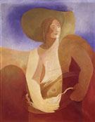 Woman with Fish c1932 - Alexandra Exter