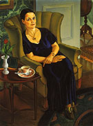 Young Girl in Purple 1930 - Alexandre Hogue
