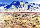 Pulliam Bluffs Chisos Mountains 1984 - Alexandre Hogue