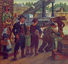 The Diana Docking 1941 - Alexandre Hogue