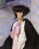 Woman with a Pink Bow - Alfred H Maurer