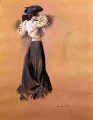 Woman in a Blue Hat c1900 - Alfred H Maurer