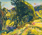 Landscape with Green Tree c1923 - Alfred H Maurer