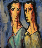 Two Heads c1928 - Alfred H Maurer