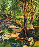 Fenced Landscape c1910 - Alfred H Maurer