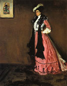 Woman in Pink Portrait of Roselle Fitzpatrick 1902 - Alfred H Maurer
