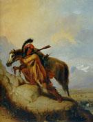 The Scalplock 1870 - Alfred Jacob Miller