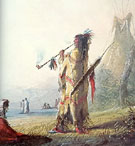 Shoshone Warrior with Pipe - Alfred Jacob Miller