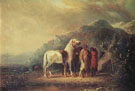 Sioux Camp Scene c1852 - Alfred Jacob Miller