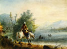 Fording the River - Alfred Jacob Miller