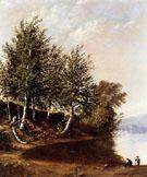 Figures in a Landscape - Alfred T Bricher