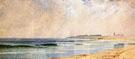 A Showery Cay Naragansett Pier - Alfred T Bricher