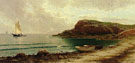 Seascape with Dories and Sailboats - Alfred T Bricher