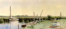 Sailboats in an Inlet - Alfred T Bricher