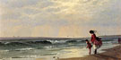 At the Shore - Alfred T Bricher
