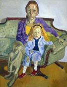 Linda Nochlin and Daisy 1973 - Alice Neel