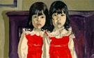 The De Vegh Twins 1975 - Alice Neel