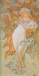 Spring 1896 - Alphonse Mucha