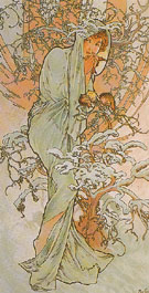 Winter 1896 - Alphonse Mucha