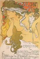 Salon des Cent 20 Exposition 1896 - Alphonse Mucha
