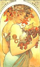 Fruit 1897 - Alphonse Mucha