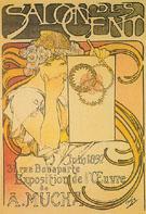 Salon des Cent Exposition del Euvre de Mucha 1897 - Alphonse Mucha